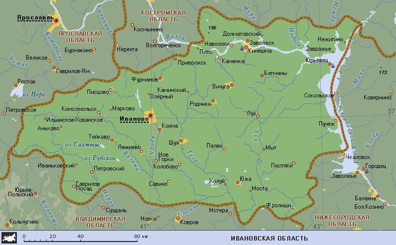 Карта ивановской области gt gt gt смотреть