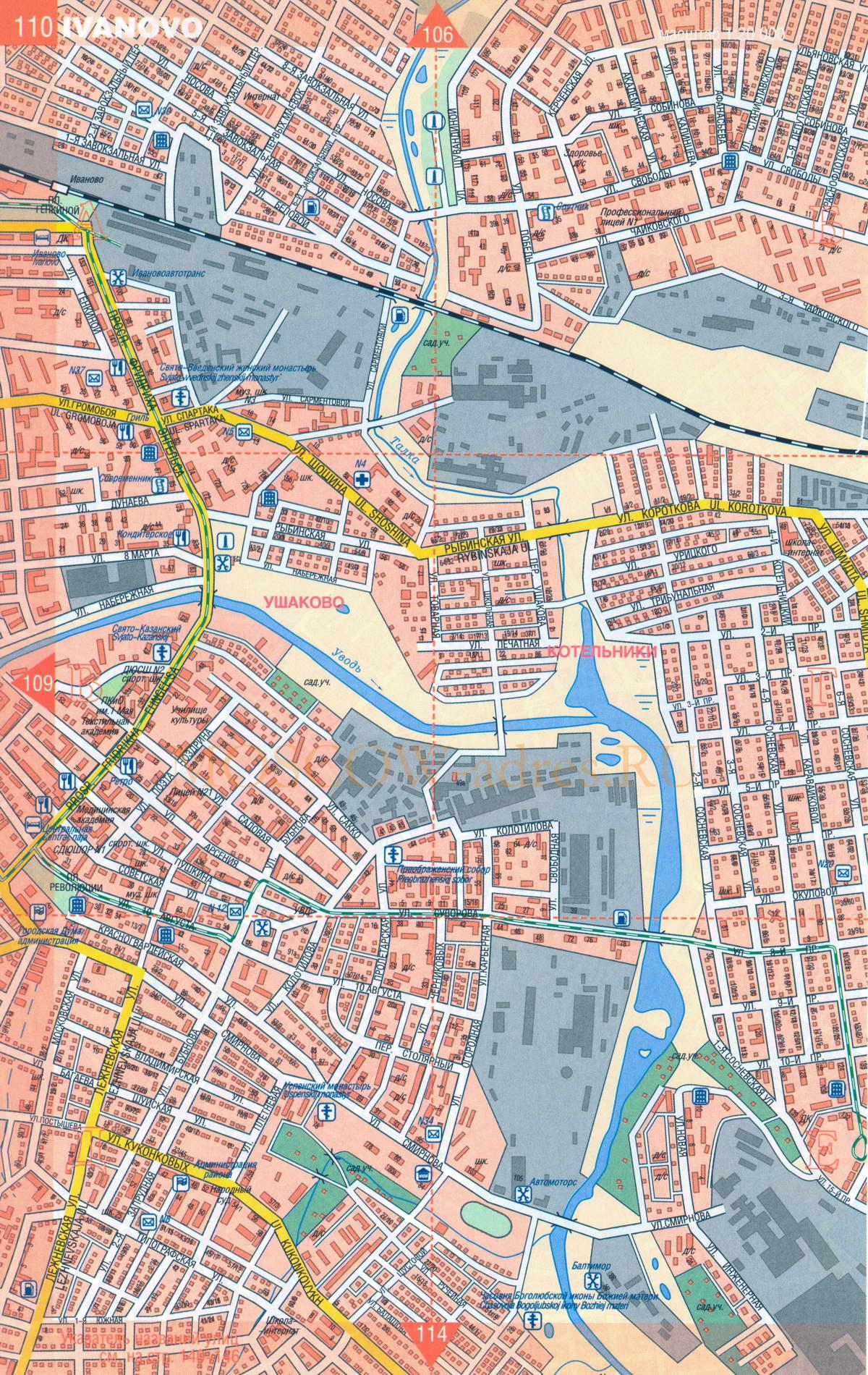 Подробная карта города иваново