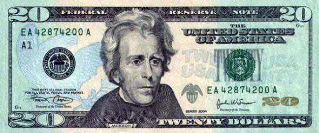 20 долларов сша реверс