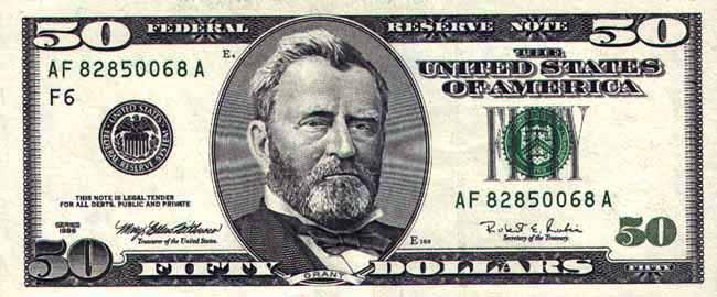 50 долларов сша аверс с портретом